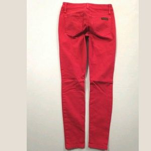 Joe's Jeans Skinny Ankle crop Bright red Mid rise